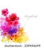watercolor vector background... | Shutterstock .eps vector #339446699
