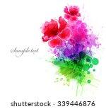 watercolor vector background... | Shutterstock .eps vector #339446876