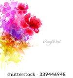 watercolor vector background... | Shutterstock .eps vector #339446948