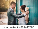 happy loving couple on nature | Shutterstock . vector #339447500