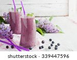 fresh smoothie with blueberries ...   Shutterstock . vector #339447596