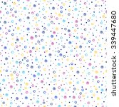 colorful vector dots seamless... | Shutterstock .eps vector #339447680