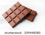 Milk Chocolate Pieces On Color...