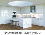 new contemporary white kitchen... | Shutterstock . vector #339449570