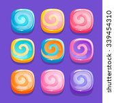 squares candies  vector...
