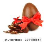 Chocolate Easter Eggs Isolated...