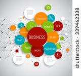 business infographic schema... | Shutterstock .eps vector #339462338