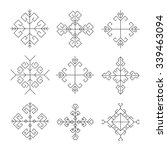 set of christmas snowflakes ... | Shutterstock .eps vector #339463094