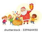 Santa Claus Brings Gifts To...