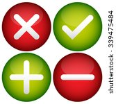 red cross  check mark  plus and ... | Shutterstock .eps vector #339475484