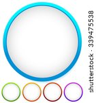 empty circle element  badge in... | Shutterstock .eps vector #339475538
