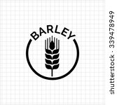icon of barley ear in circle...   Shutterstock .eps vector #339478949