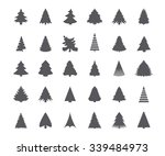 christmas tree silhouettes | Shutterstock .eps vector #339484973