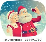 santa claus and mrs. claus... | Shutterstock .eps vector #339491780