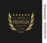 premium quality badge. golden...   Shutterstock .eps vector #339494960