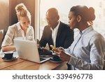 ethnic entrepreneurs planning... | Shutterstock . vector #339496778