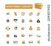 investment  icons  signs vector ... | Shutterstock .eps vector #339507953