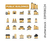 public buildings  houses  icons ... | Shutterstock .eps vector #339508124