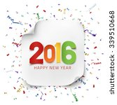 happy new year 2016. colorful... | Shutterstock .eps vector #339510668