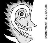 horror face | Shutterstock .eps vector #339520088