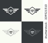badge and shield with wings.... | Shutterstock .eps vector #339521510