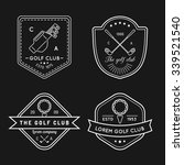 vector golf logo set. sports... | Shutterstock .eps vector #339521540