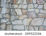 The Surface Of The Stone Wall...
