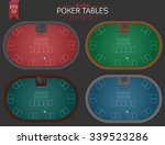 set of four poker tables in...