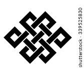 endless knot tibet  eternal  ... | Shutterstock .eps vector #339525830