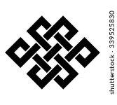endless knot tibet  eternal  ... | Shutterstock .eps vector #339525830