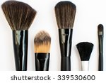 different makeup brushes on... | Shutterstock . vector #339530600