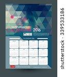 calendar 2016. vector templates ... | Shutterstock .eps vector #339533186