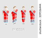 russia soccer team sportswear... | Shutterstock .eps vector #339536444