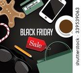 Black Friday Shopping Bag And...