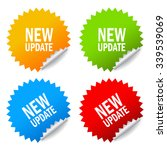 new update sticker | Shutterstock .eps vector #339539069
