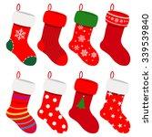 Set Of Christmas Socks In Red...