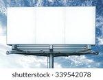 mock up of blank white... | Shutterstock . vector #339542078