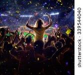 fans on stadium game  | Shutterstock . vector #339544040