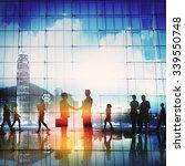 business people meeting... | Shutterstock . vector #339550748