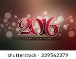 happy new year 2016 celebration ... | Shutterstock . vector #339562379