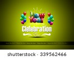 happy new year 2016 celebration ... | Shutterstock . vector #339562466