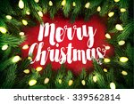 typographic christmas card ... | Shutterstock . vector #339562814