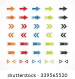 arrows set | Shutterstock .eps vector #339565520