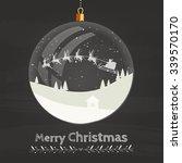christmas decoration   glass... | Shutterstock .eps vector #339570170