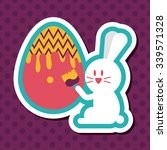 easter bunny flat icon with... | Shutterstock .eps vector #339571328