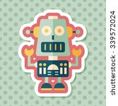 robot concept flat icon with... | Shutterstock .eps vector #339572024