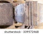 custom bench vise install on... | Shutterstock . vector #339572468