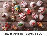 Background Of Christmas Sweets...
