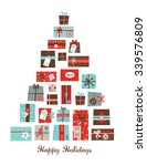 christmas presents arranged as... | Shutterstock .eps vector #339576809