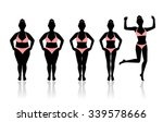 silhouettes of women losing... | Shutterstock .eps vector #339578666